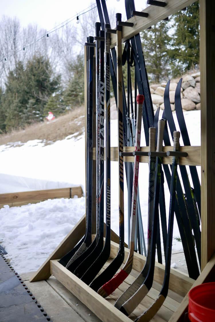 DIY Freestanding Hockey Stick Rack Plan Rogue Engineer 5
