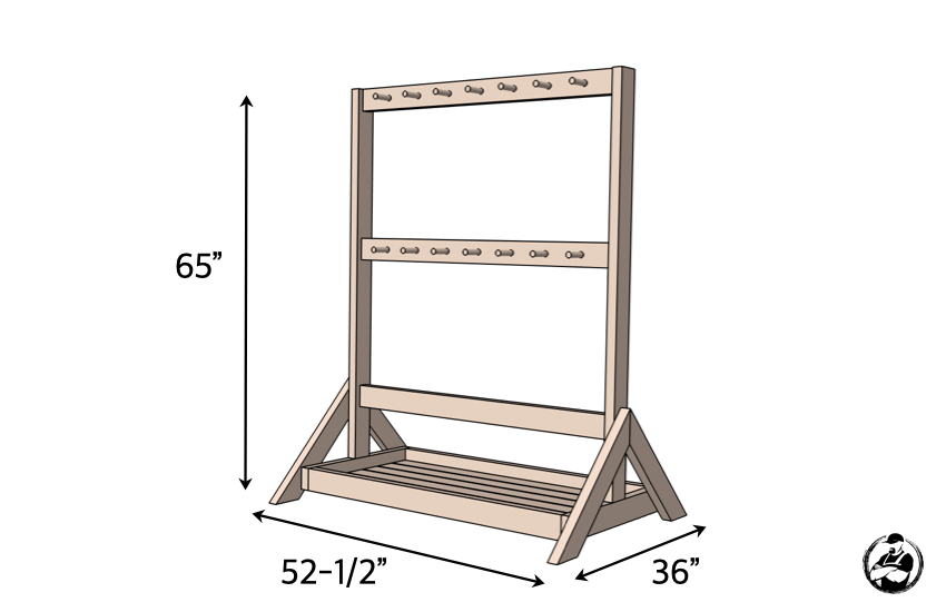 DIY Hockey Stick Ski Rack Plans Dimensions