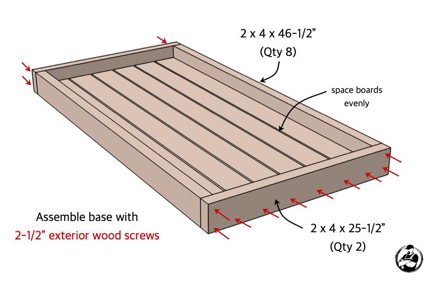 DIY Hockey Stick Ski Rack Plans Step 1