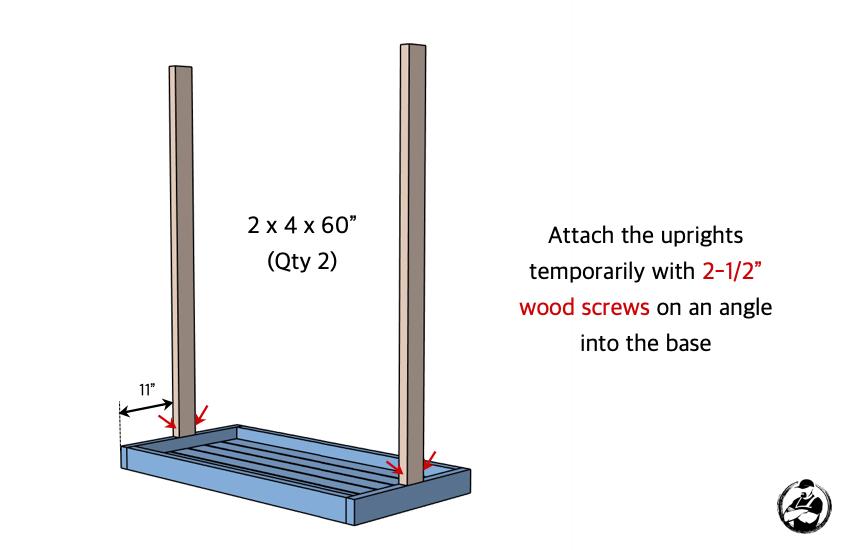 DIY Hockey Stick Ski Rack Plans Step 2