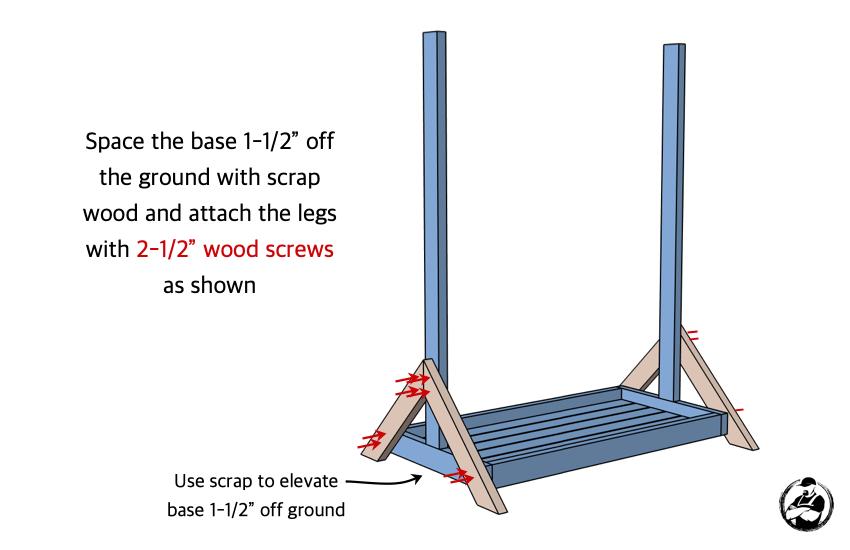 DIY Hockey Stick Ski Rack Plans Step 3