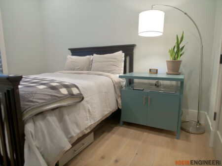 DIY Large Nightstand Plans with Charging Shelf Rogue Engineer 1