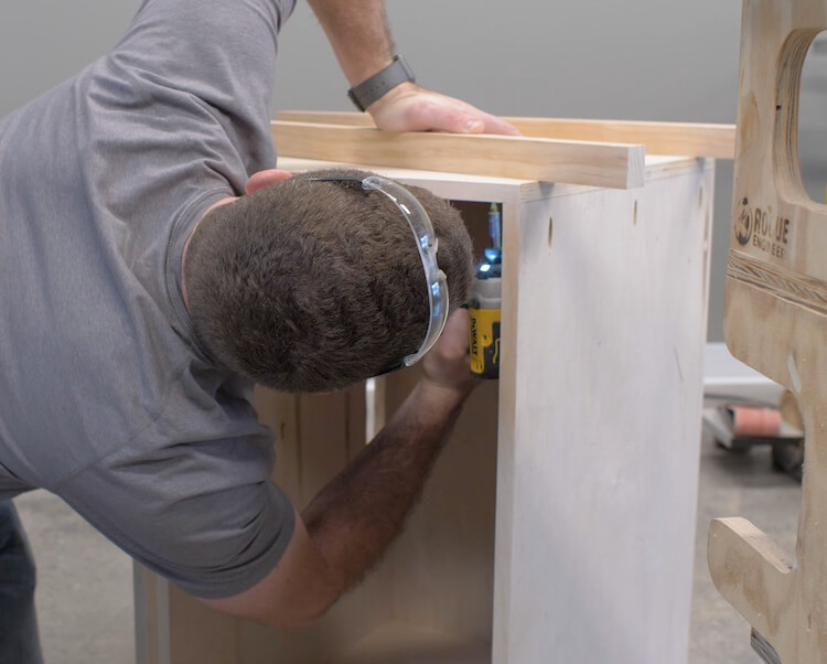 DIY Large Nightstand with Charging Shelf Plans Step 8