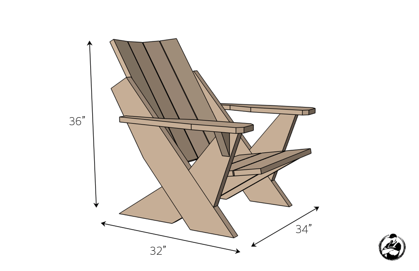 Easy Adirondack Chair Plans Dimensions
