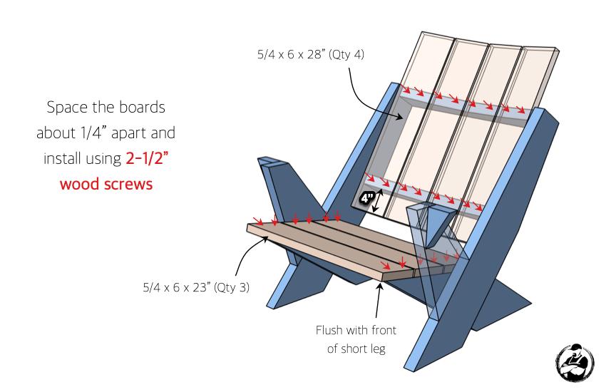 Easy Adirondack Chair Plans Step 7