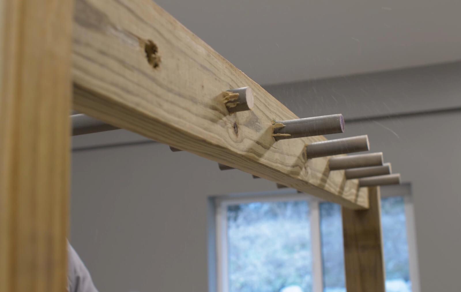 How to build a Hockey Stick Rack Step 7