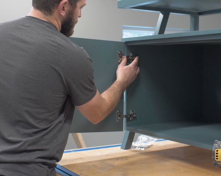 Installing Cabinet Hinges and Handles Step 13
