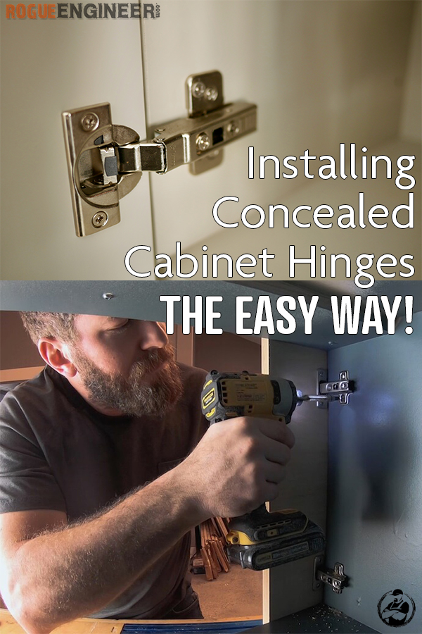 Installing Cabinet Hinges the Easy Way Rogue Engineer Pinterest