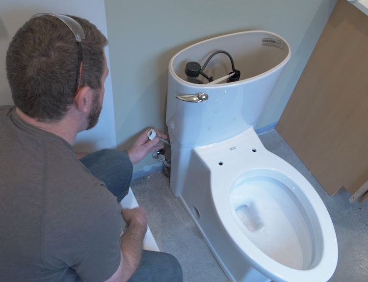 How to install a toilet Step 25