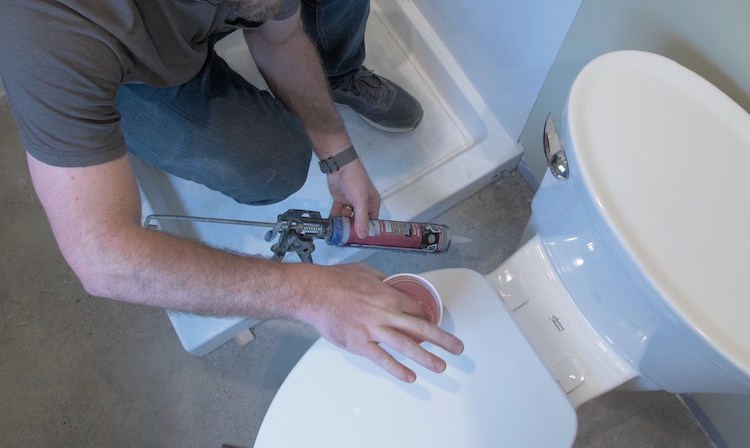 How to install a toilet Step 37
