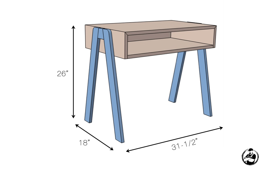 DIY Kids Desk Plans Dimensions