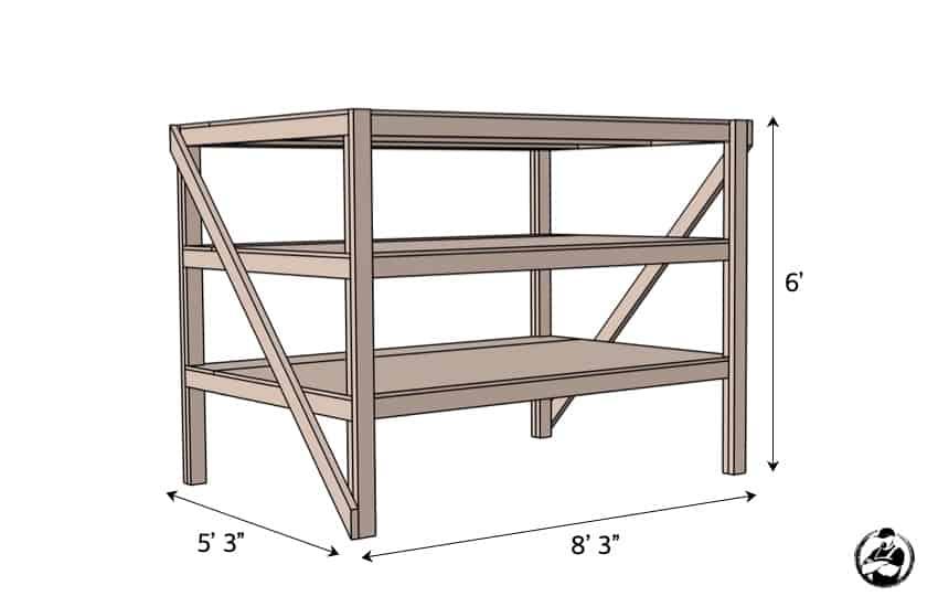 DIY Heavy Duty Storage Unit Plans Dimensions
