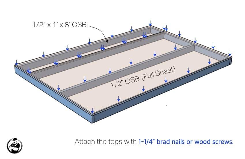 DIY Heavy Duty Storage Unit Plans Step 2