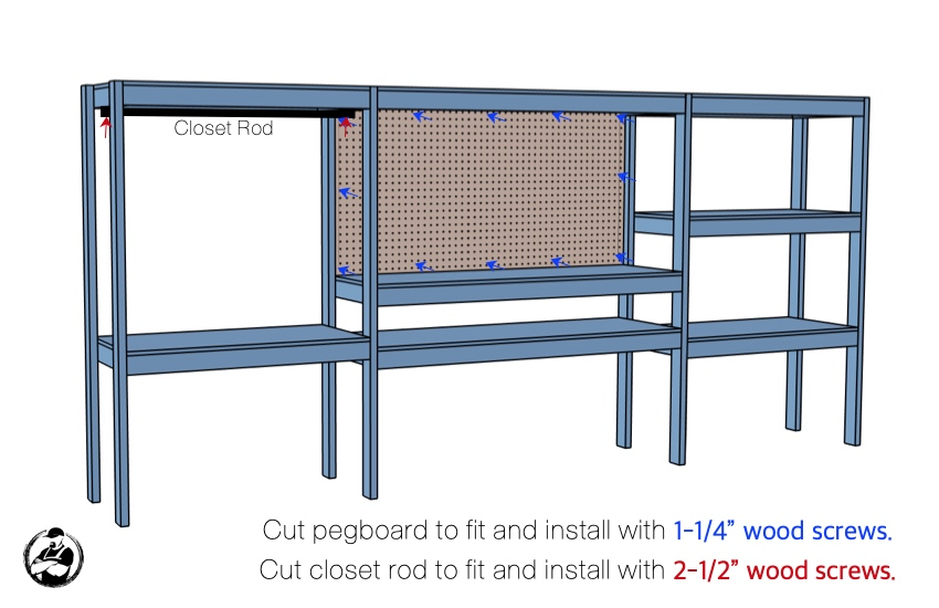 DIY Storage Shelving with Workstation Plans Step 7