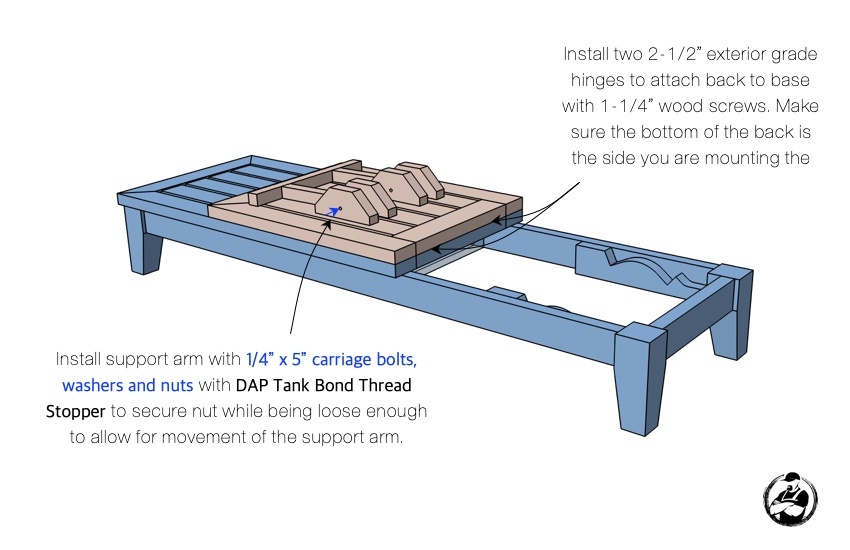 DIY Outdoor Chaise Lounger Chair Plans Step 10