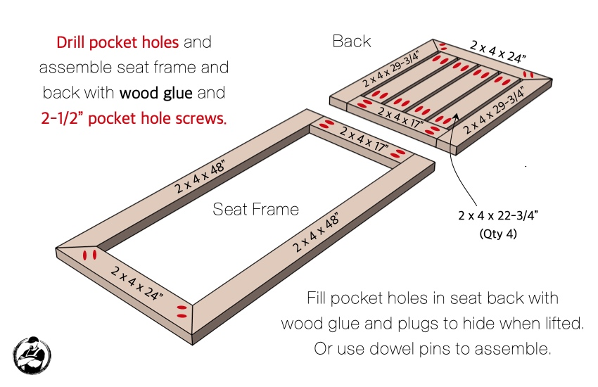 DIY Outdoor Chaise Lounger Chair Plans Step 4