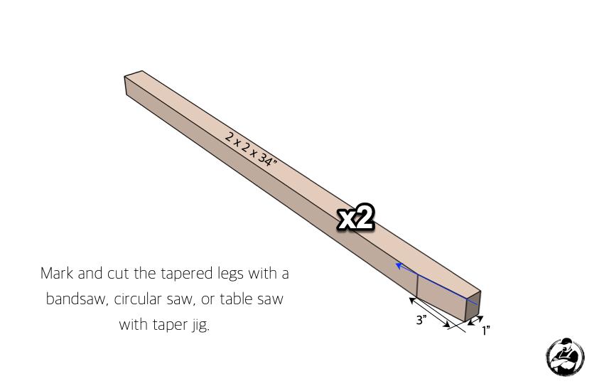 DIY 24in Vanity Plans Step 1