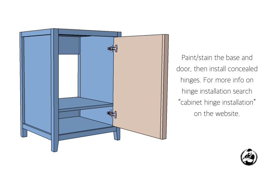 DIY 24in Vanity Plans Step 7