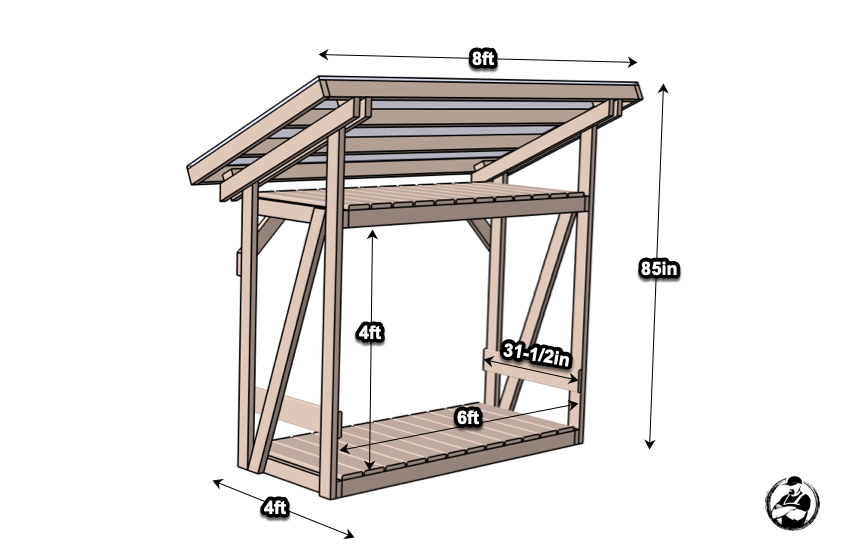 DIY Firewood Shed Plans Dimensions