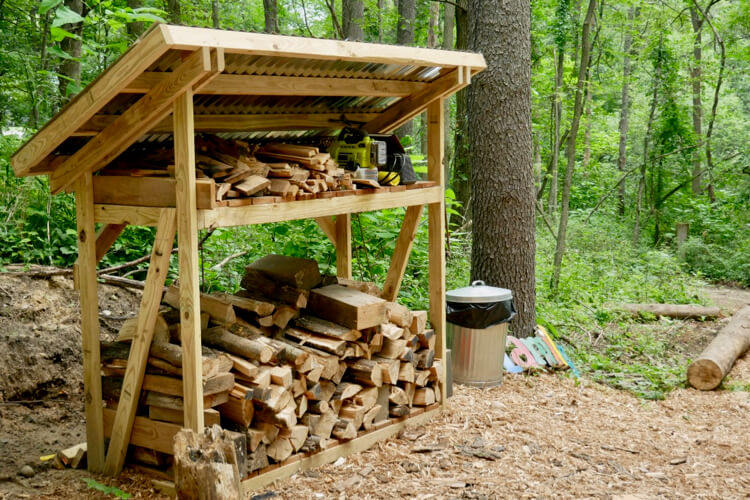 DIY Firewood Shed Plans Rogue Engineer 1