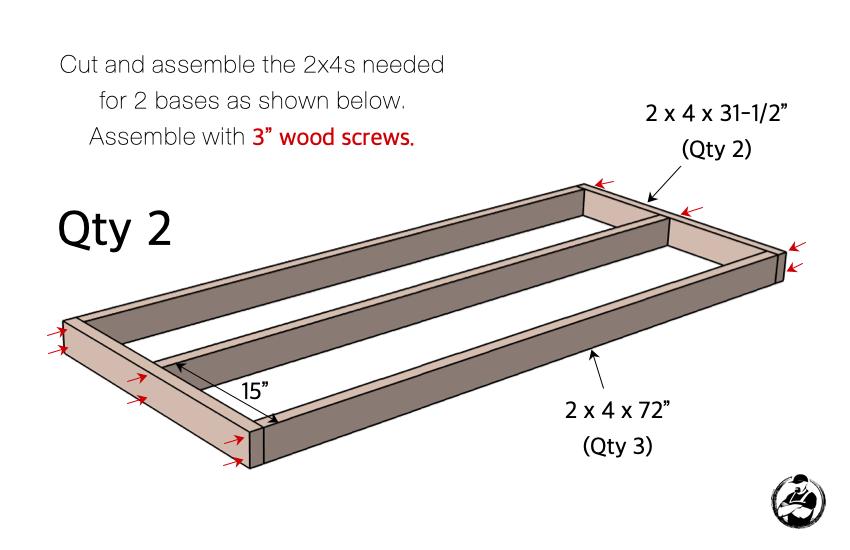 DIY Firewood Shed Plans Step 1