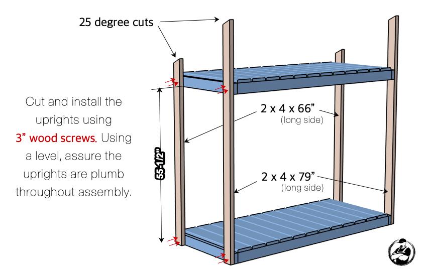 DIY Firewood Shed Plans Step 3