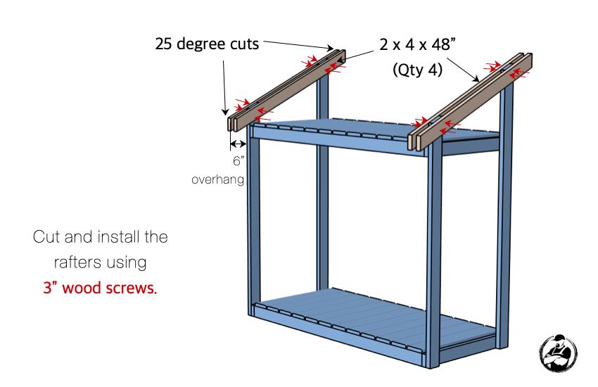 DIY Firewood Shed Plans Step 4