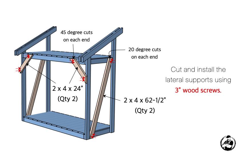 DIY Firewood Shed Plans Step 5