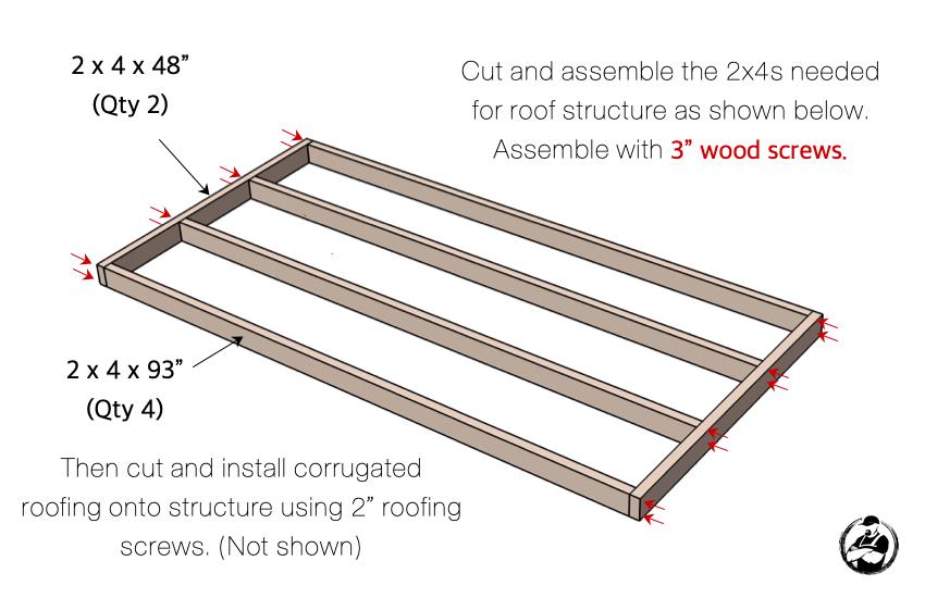 DIY Firewood Shed Plans Step 6