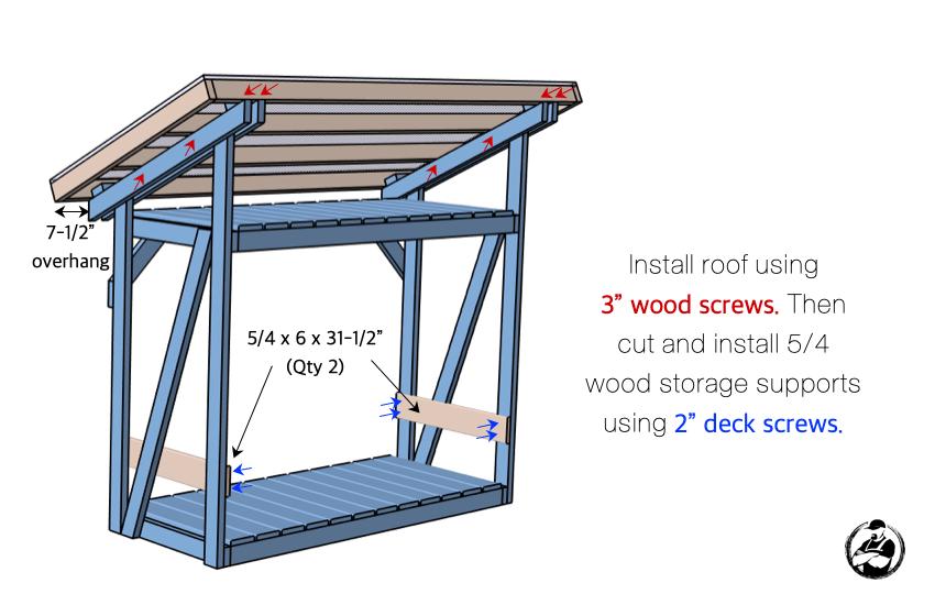DIY Firewood Shed Plans Step 8