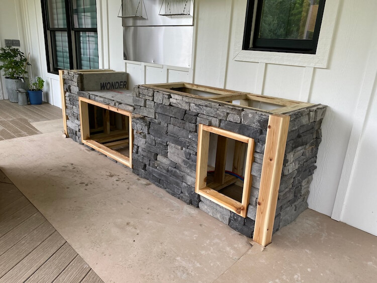 DIY Outdoor Kitchen with Grill and Sink 2