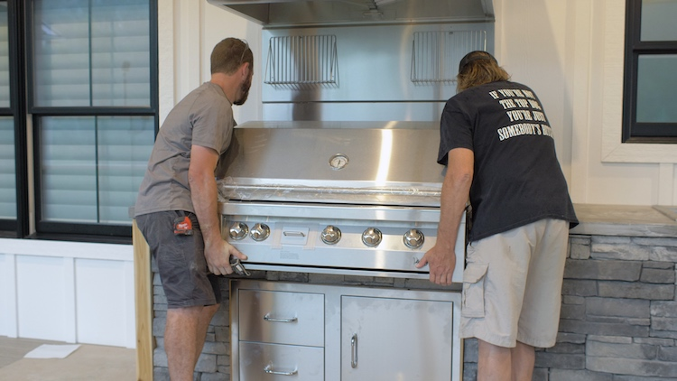 install grill