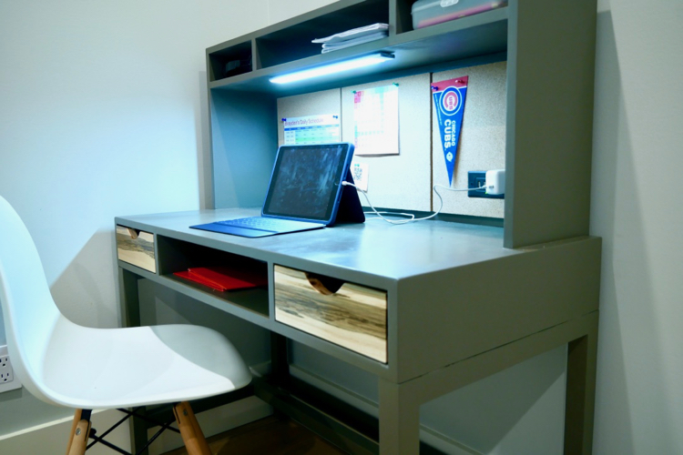 DIY Kids Desk with Hutch Plans Rogue Engineer 4