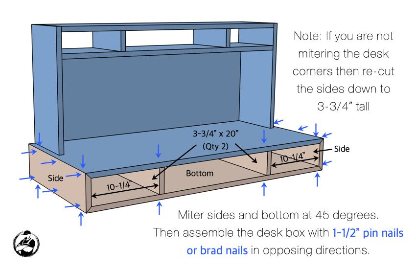 DIY Kids Desk with Hutch Plans Step 3