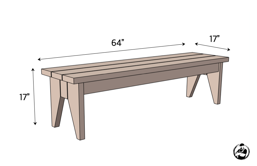 DIY Outdoor Bench Plans Dimensions