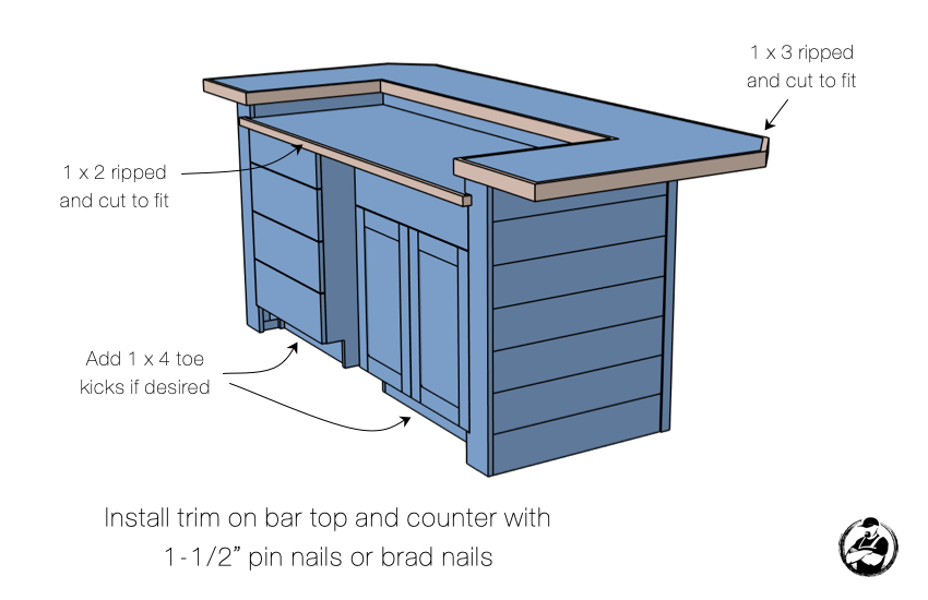 DIY Dry Bar Plans Step 9