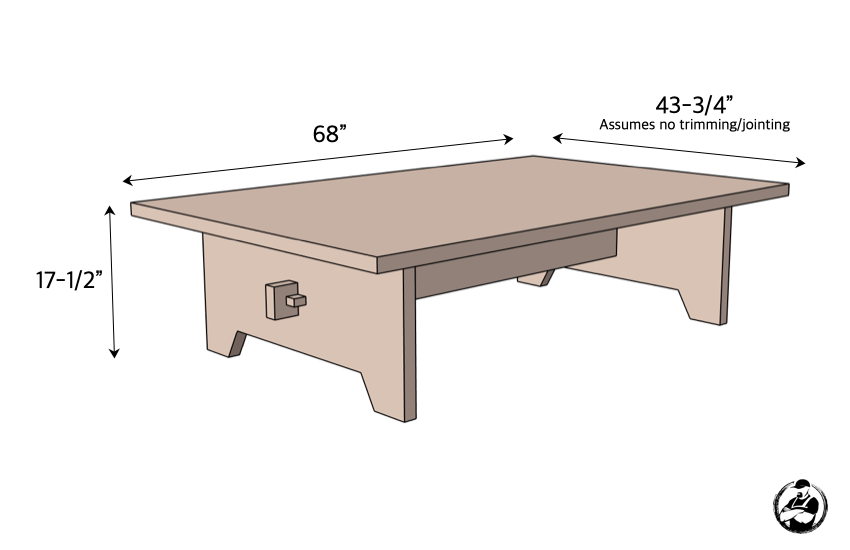 DIY Large Coffee Table Plans Dimensions
