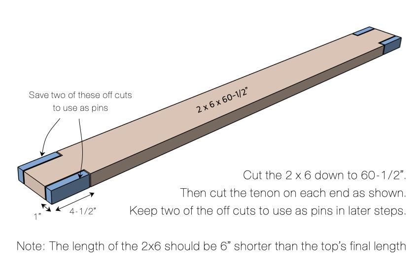 DIY Large Coffee Table Plans Step 3