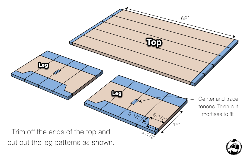 DIY Large Coffee Table Plans Step 4