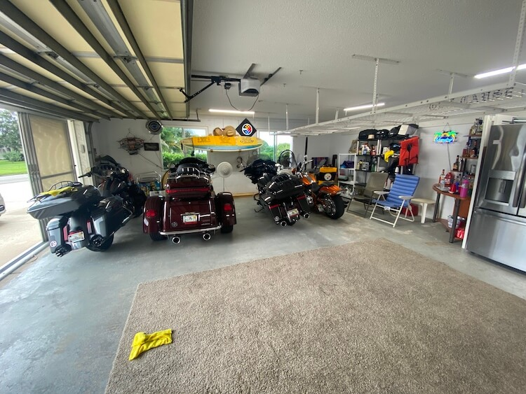 Motorcycle Man Cave Makeover Before 2