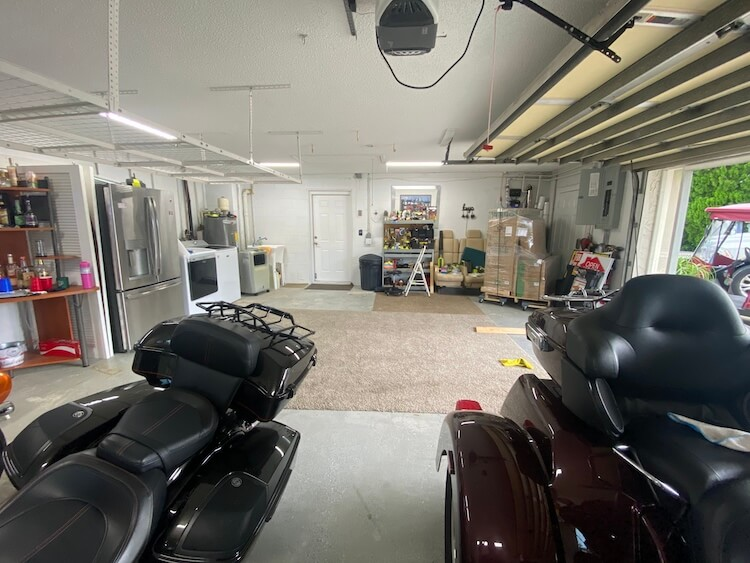 Motorcycle Man Cave Makeover Before 4