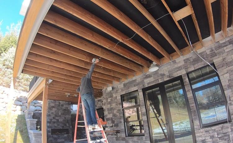 Covered Patio Makeover Step 5