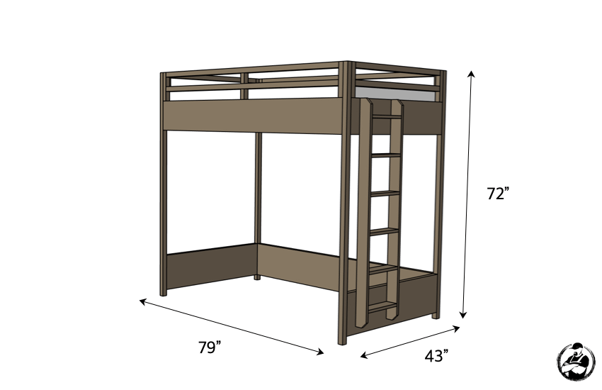 DIY Twin Loft Bed Plans Dimensions