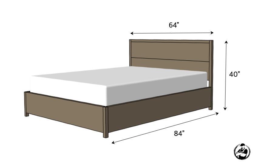 DIY Queen Platform Bed Plans Dimensions