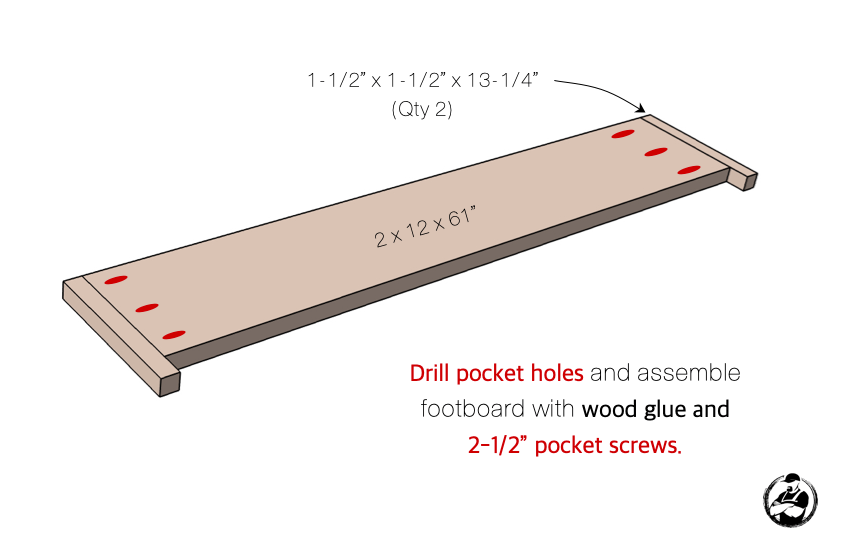 DIY Queen Platform Bed Plans Step 2