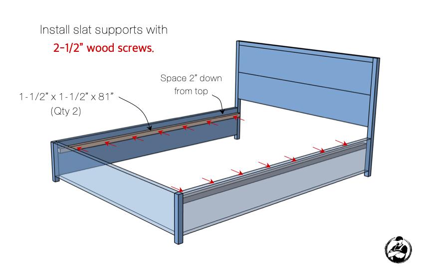 DIY Queen Platform Bed Plans Step 4