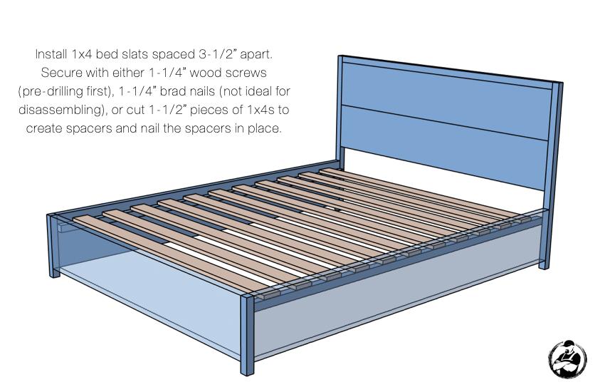 DIY Queen Platform Bed Plans Step 5
