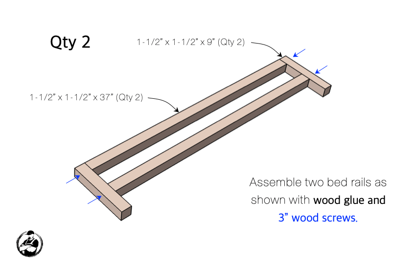DIY Twin Loft Bed Plans Step 1