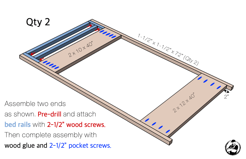 DIY Twin Loft Bed Plans Step 2