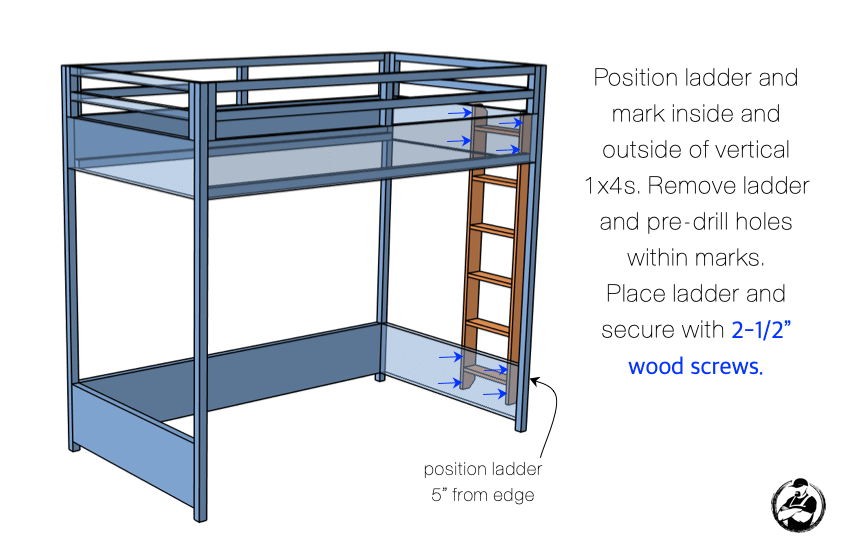 DIY Twin Loft Bed Plans Step 6